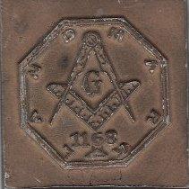 Image of Landmark Lodge No. 1168 paperweight - 2014.12.39