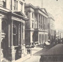 Image of St Louis street scene 1858 - 2014.12.5
