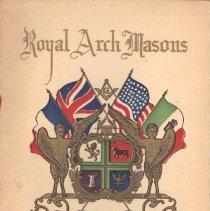 Image of Royal Arch Masons Reception Program 1922