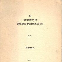 Image of Memorial Program for William F Kuhn 1934