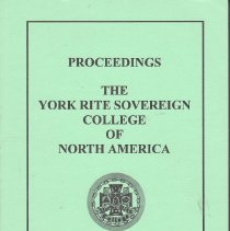 Image of YR Sovereign College - Freemasonry--Yearbook York Rite Sovereign College of North America