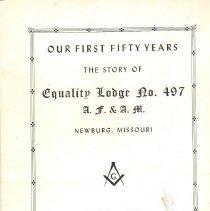 Image of Freemasonry--History--Missouri Lodge--History--Missouri--Equality Lodge