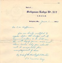 Image of Seligman Lodge No 517 Records 1927-1931