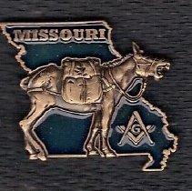 Image of Missouri Mule Pin - 2015.1.177