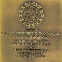 Image of Grand Masters Conference paperweight Phoenix AZ 2001 - 2015.1.18