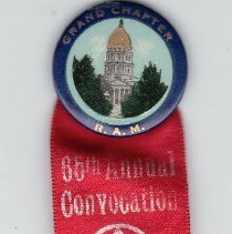 Image of Royal Arch Mason Badge, 65th Convocation of Kansas 1930 - 2015.1.35