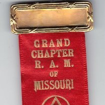 Image of Badge, Grand Chapter of Missouri 1938 - 2015.1.38