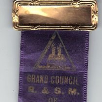 Image of Badge, Grand Council of Missouri R&SM 1939. - 2015.1.39