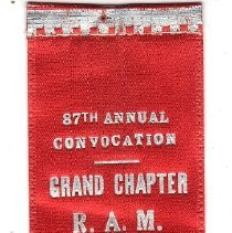 Image of Grand Chapter of Kansas 1952 Attendence ribbon - 2015.1.41