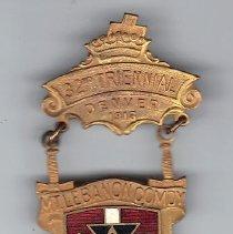 Image of Mt Lebanon Commandery Jewel for Grand Encampment Denver Col, 1914 - 2015.1.47