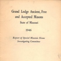 Image of Grand Lodge of Missouri - Masonic homes--Missouri