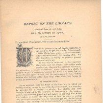 Image of Grand Lodge of Iowa - Masonic Libraries--Iowa