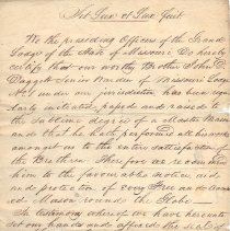 Image of John D Daggett Letter 1821