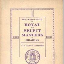 Image of Star Printing - Freemasonry--History--Oklahoma Royal and Select Masters--History--Oklahoma