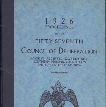 Image of Proceedings of the Council of Deliberation AASR NJ 1925