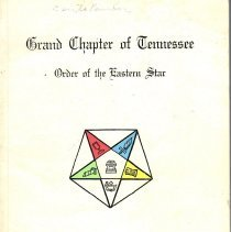 Image of Williams Printing Co - Eastern Star--Yearbooks--Tennessee Eastern Star--History--Tennessee
