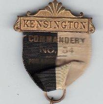 Image of Kensington Commandery No. 54 KT Past Commander Jewel