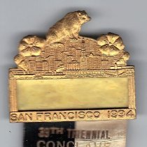 Image of Grand Encampment attendence medal 1934 - 2015.3.77