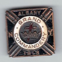 Image of Grand Commandery New York Pin 1913 - 2015.3.80