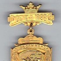 Image of Clinton Commandery KT No. 14 pin 1899 New York - 2015.3.82