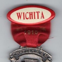 Image of Royal Arch Chapter attendence ribbon, Wichita KS 1915 - 2015.3.90