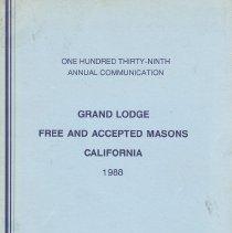 Image of Grand Lodge of California - Freemasonry--History--California