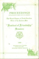 Image of Proceedings of the Grand Chapter of North Carolina OES 1986