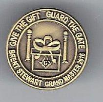 Image of Grand Master Stewart Label Pin - 2015.10.7