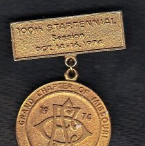 Image of Medal commerating the Centennial of the Order of the Eastern Star in Missouri in 174 - 2015.8.1