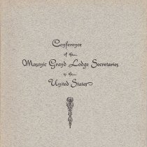 Image of Conference of Grand Secretaries - Freemasonry--History--North America
