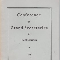 Image of Conference of Grand Secretaries - Freemasonry--History--North America