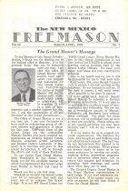 Image of Grand Lodge of New Mexico - Freemasonry--History--New Mexico Masonic Periodicals--New Mexico