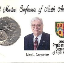 Image of Max Carpenter Grand Secretary Conference Coin 2008