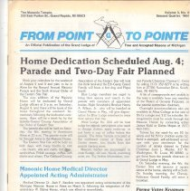 Image of Grand Lodge of Michigan - Masonic periodicals--Michiagan Freemasonry--History--Michigan--Lodge of Research