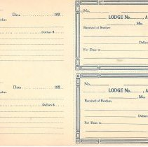 Image of Book of dues cards supplied to subordinate lodges by the Grand Lodge of Missouri - 2016.2.26