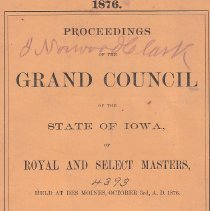 Image of B.F. Neidig, Book and Job Printers - Royal and Select Masters--History--Iowa