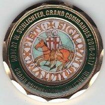 Image of Grand Commander/Grand Master Coin commerating Grand Master Templary Crusade May 9. 2016 - 2016.7.28