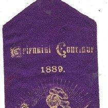 Image of Calvary Commandery No 1 Triennial Ribbon 1889 - 2016.11.36