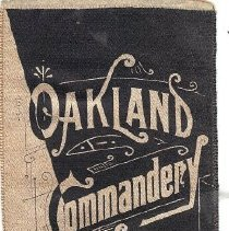 Image of Oakland Commandery No 11 1889 Conclave Ribbon - 2016.11.37
