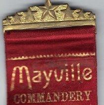 Image of Mayville Commandery No 42 Triennal Ribbom 1886 - 2016.11.39