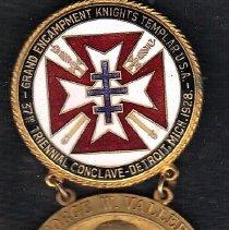 Image of 1928 Grand Encampment Knights Templar Medal - 2016.11.44