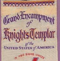 Image of 1937 Grand Encampment Masonic Ribbon 40th Triennial - 2016.11.46