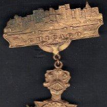 Image of Meridan Conn Commemorative medal 1910 Grand Encampment Chicago - 2016.11.56