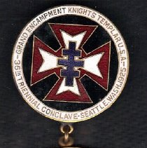 Image of 1925 Grand Encampment Commemorative Medal Knights Templar - 2016.11.57
