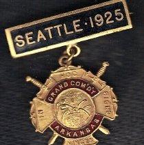 Image of Arkansas Grand Commandery Commemorative Medal 1925 Grand Encampment Triennial Conclave - 2016.11.60