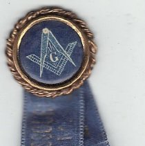 Image of Grand Lodge of Missouri Attendence Button 1909