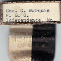 Image of 1952 Grand Encampment Medal  - 2016.11.97