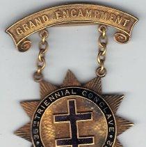 Image of 1922 Grand Encampment medal - 2016.11.98