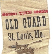 Image of 1889 Old Guard St Louis Grand Encampment Ribbon - 2016.12.10