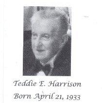 Image of In Memoriam for Teddie E. Harrison (1933-20 - 2016.9.1
